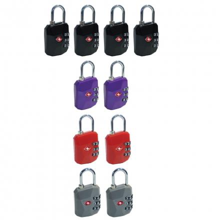 Candado Combinación TSA  Pack x 12